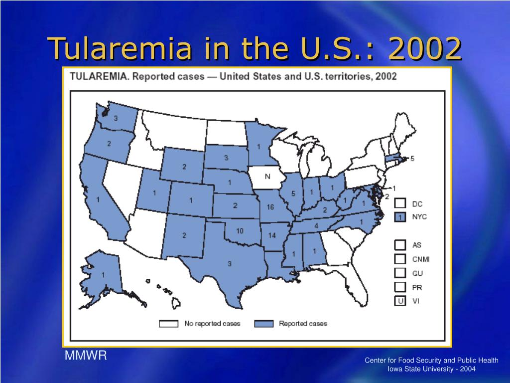 Tularemia in the U.S.: 2002