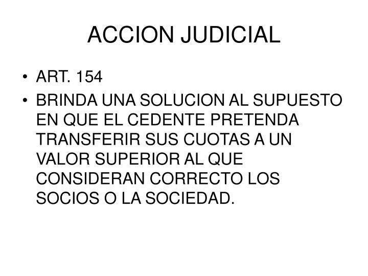 ACCION JUDICIAL