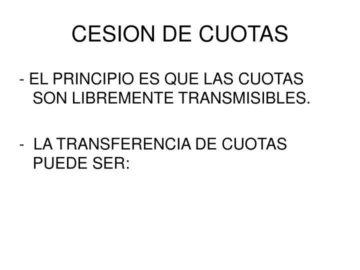 CESION DE CUOTAS