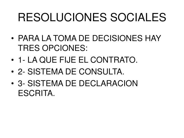 RESOLUCIONES SOCIALES