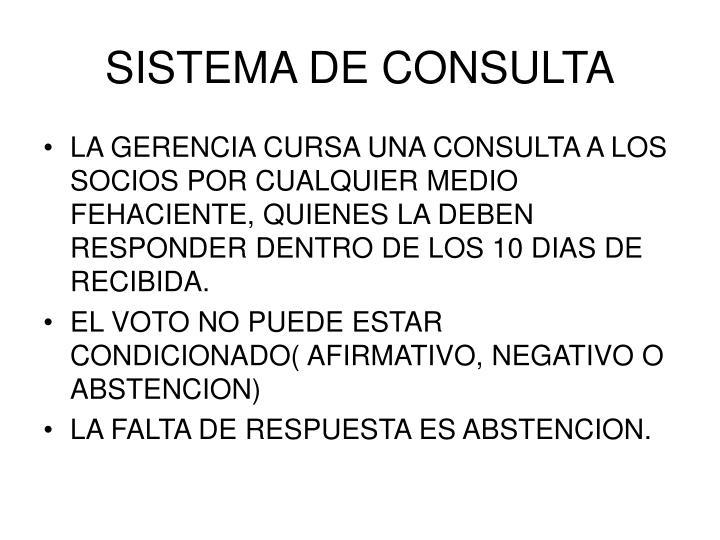 SISTEMA DE CONSULTA