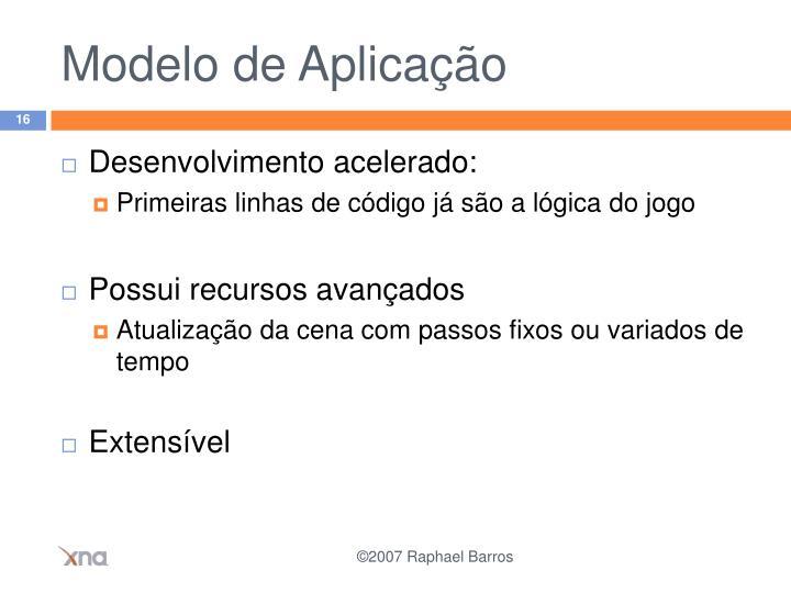Modelo de Aplicação