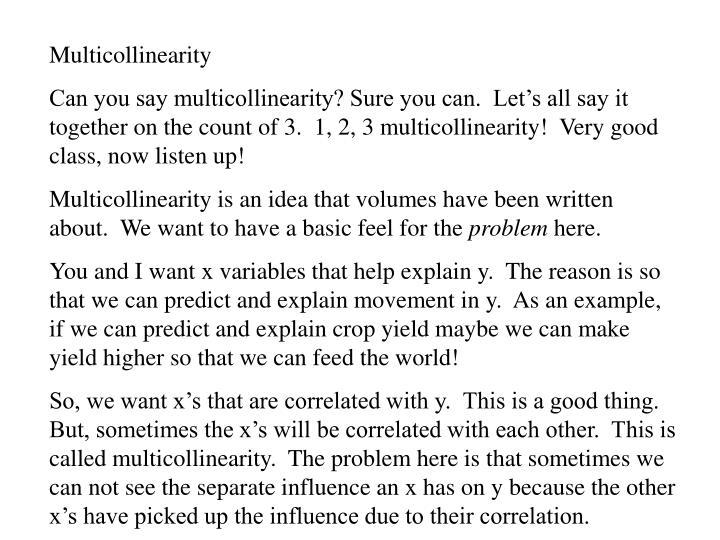 Multicollinearity