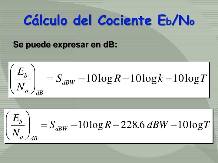 Cálculo del Cociente