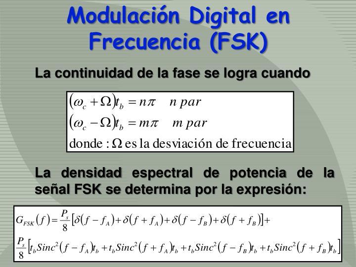 Modulación Digital en Frecuencia (FSK)