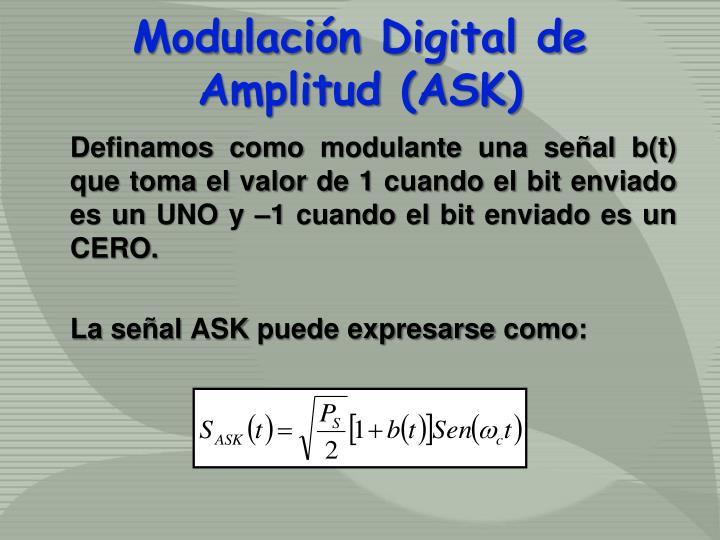 Modulación Digital de Amplitud (ASK)