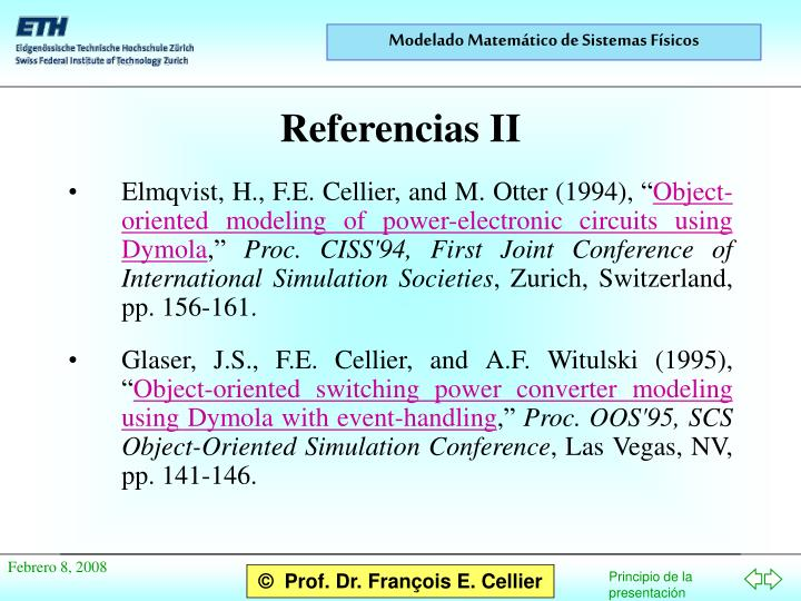"Elmqvist, H., F.E. Cellier, and M. Otter (1994), """