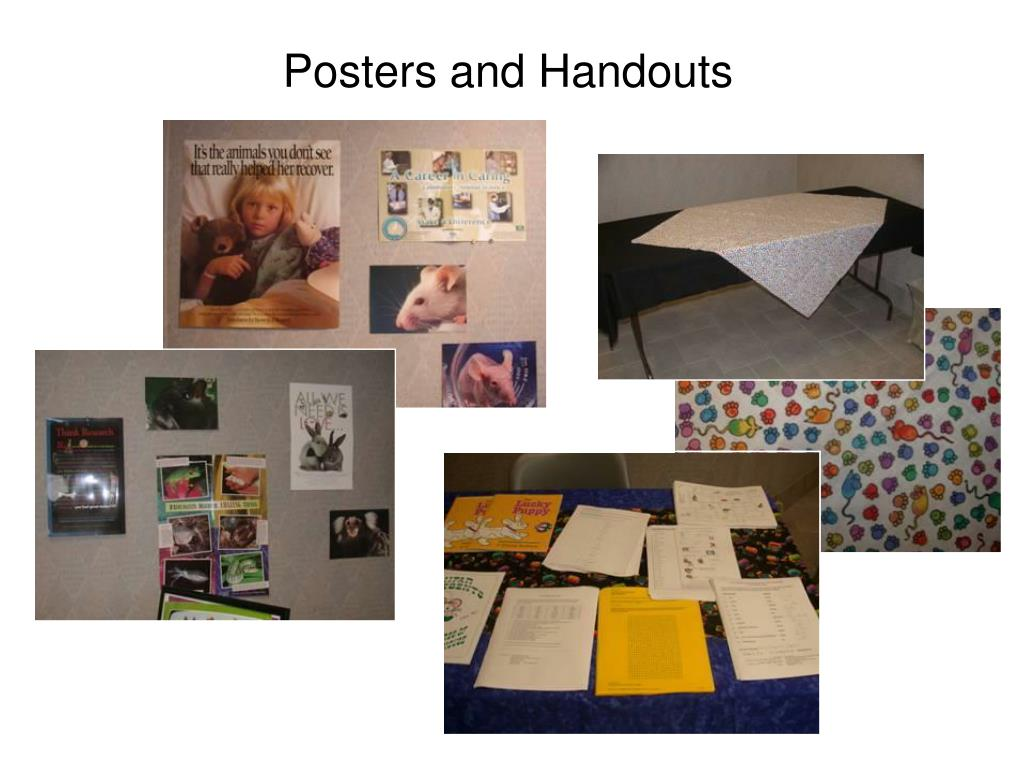 Posters and Handouts