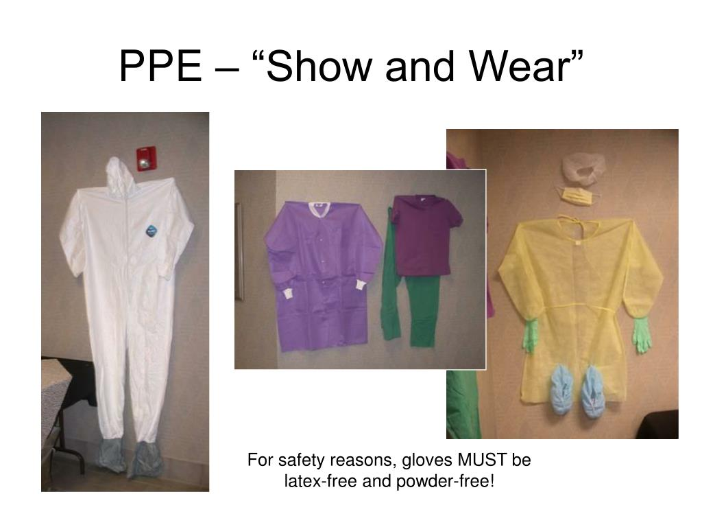 """PPE – """"Show and Wear"""""""
