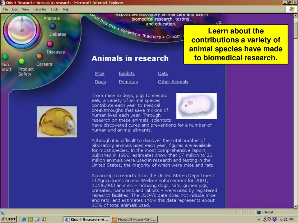 Learn about the contributions a variety of animal species have made to biomedical research.