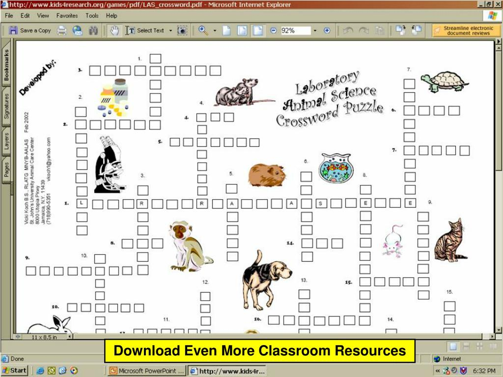 Download Even More Classroom Resources