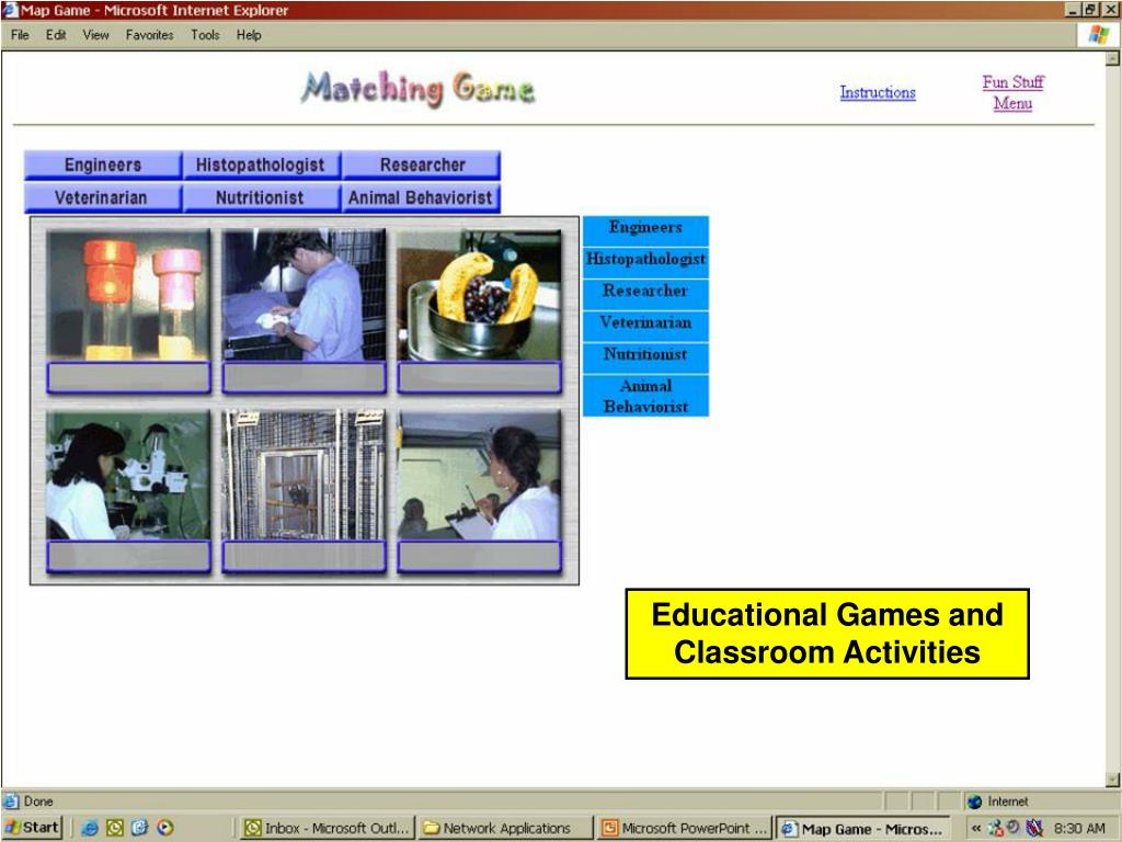 Educational Games and Classroom Activities