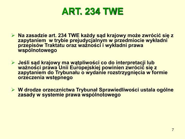 ART. 234 TWE