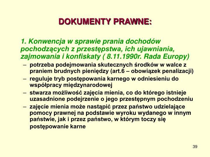 DOKUMENTY PRAWNE: