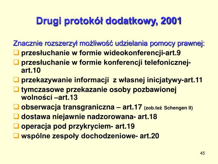 Drugi protokół dodatkowy, 2001