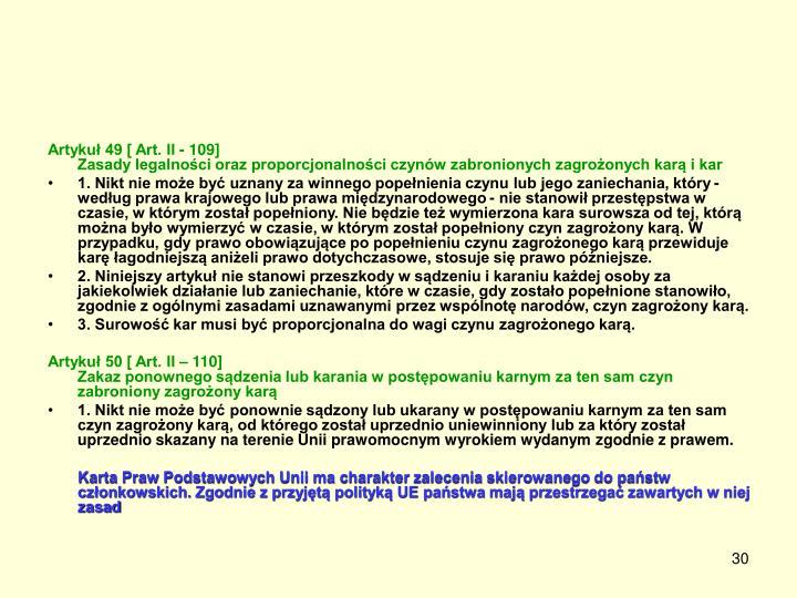 Artykuł 49 [ Art. II - 109]