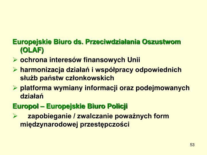 Europejskie Biuro ds. Przeciwdziałania Oszustwom (OLAF)
