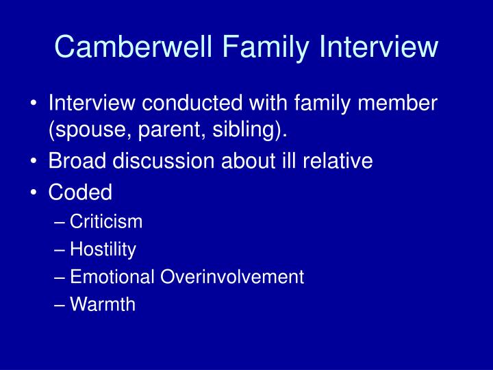 Camberwell Family Interview