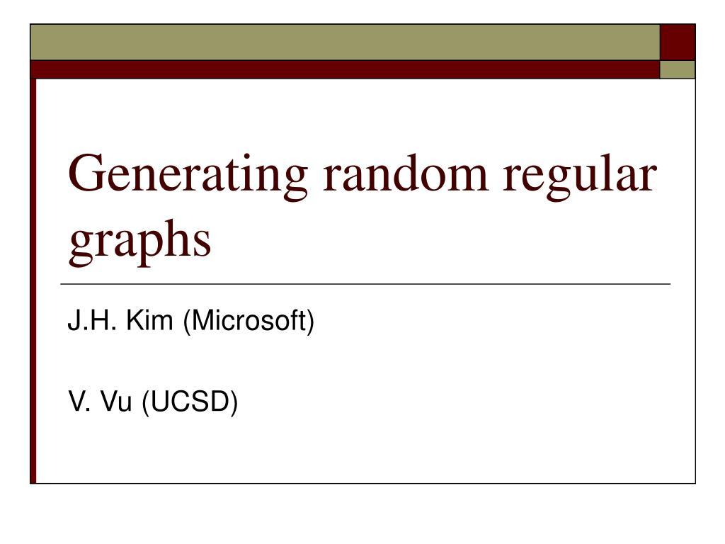 Generating random regular graphs