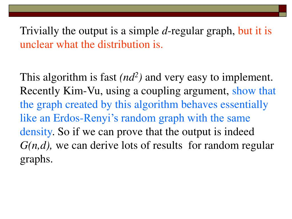 Trivially the output is a simple