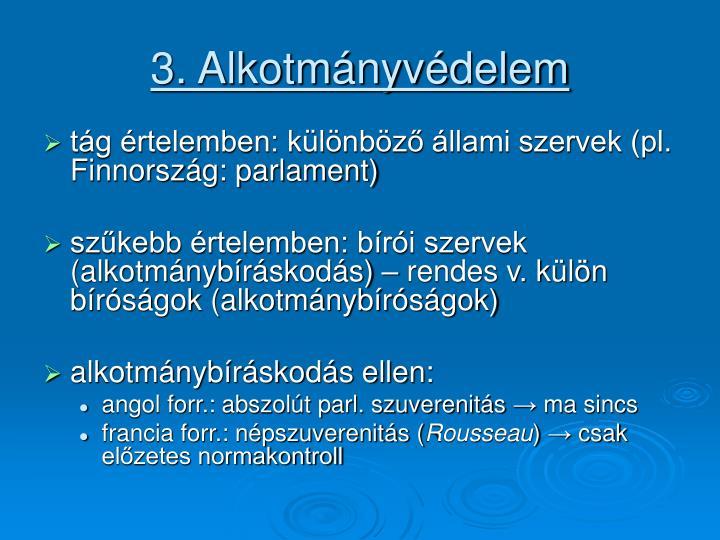 3. Alkotmányvédelem