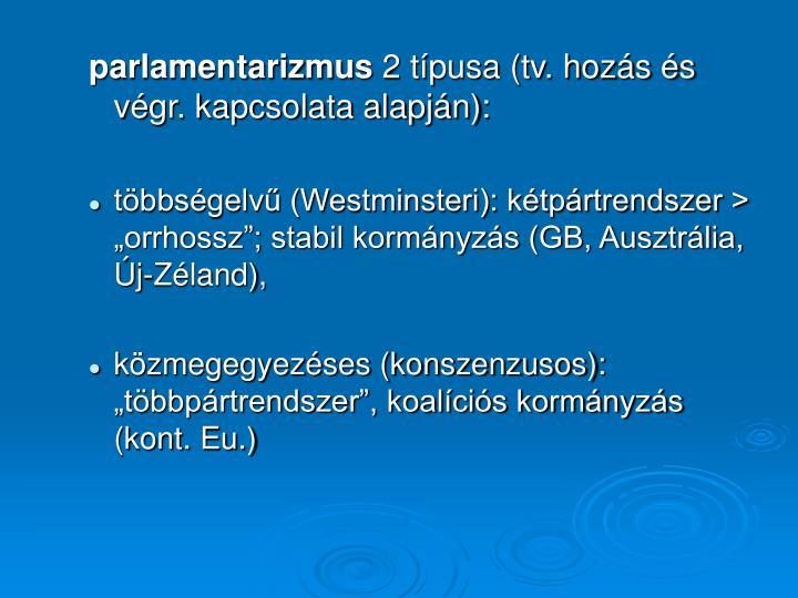 parlamentarizmus