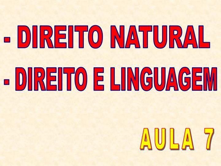 - DIREITO NATURAL