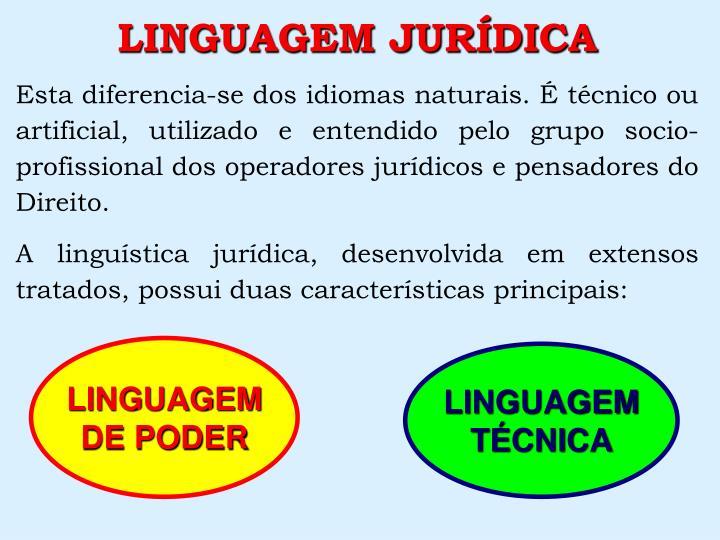 LINGUAGEM JURDICA