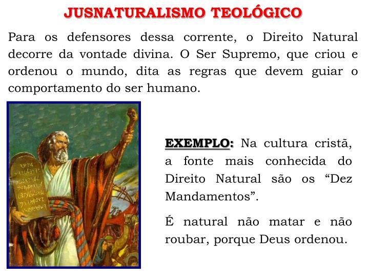 JUSNATURALISMO TEOLÓGICO