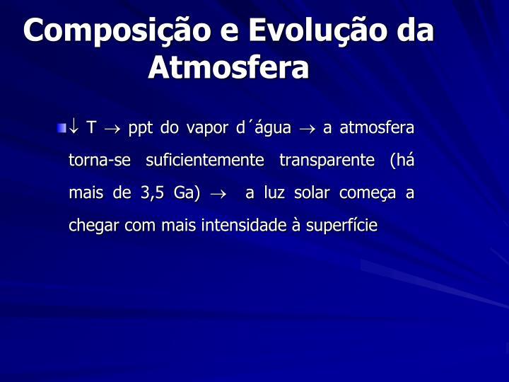 Composição e Evolução da Atmosfera