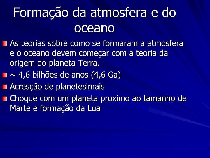 Formação da atmosfera e do oceano