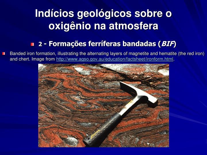 Indícios geológicos sobre o oxigênio na atmosfera