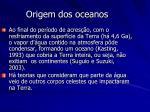 origem dos oceanos