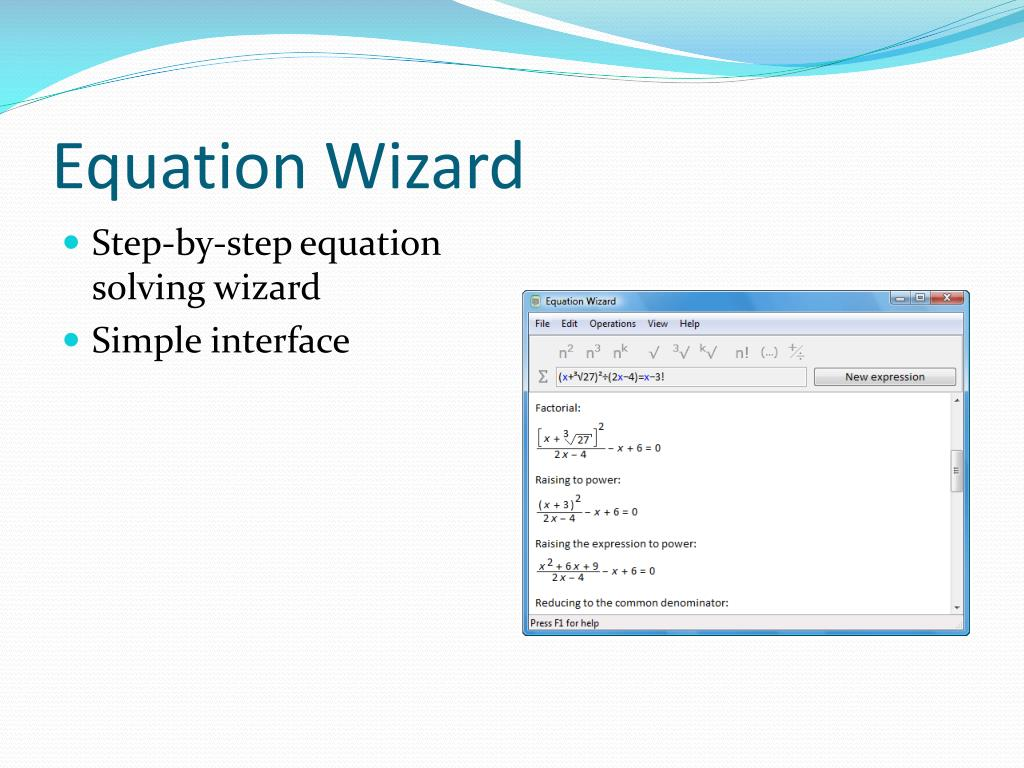 Equation Wizard