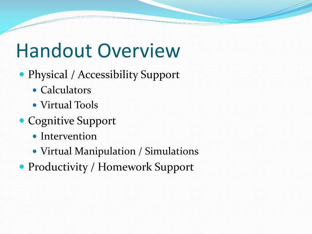 Handout Overview