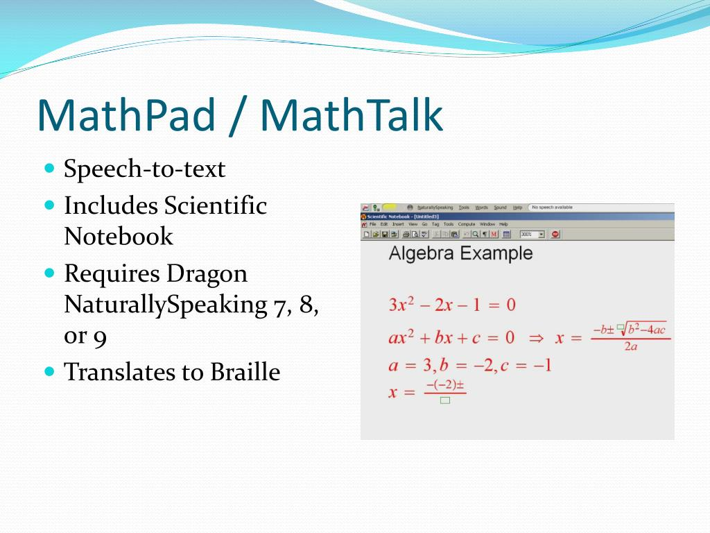 MathPad / MathTalk