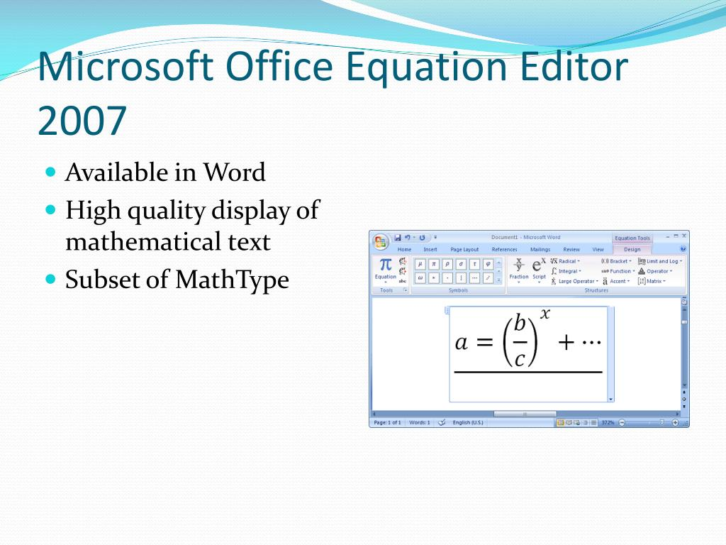 Microsoft Office Equation Editor 2007