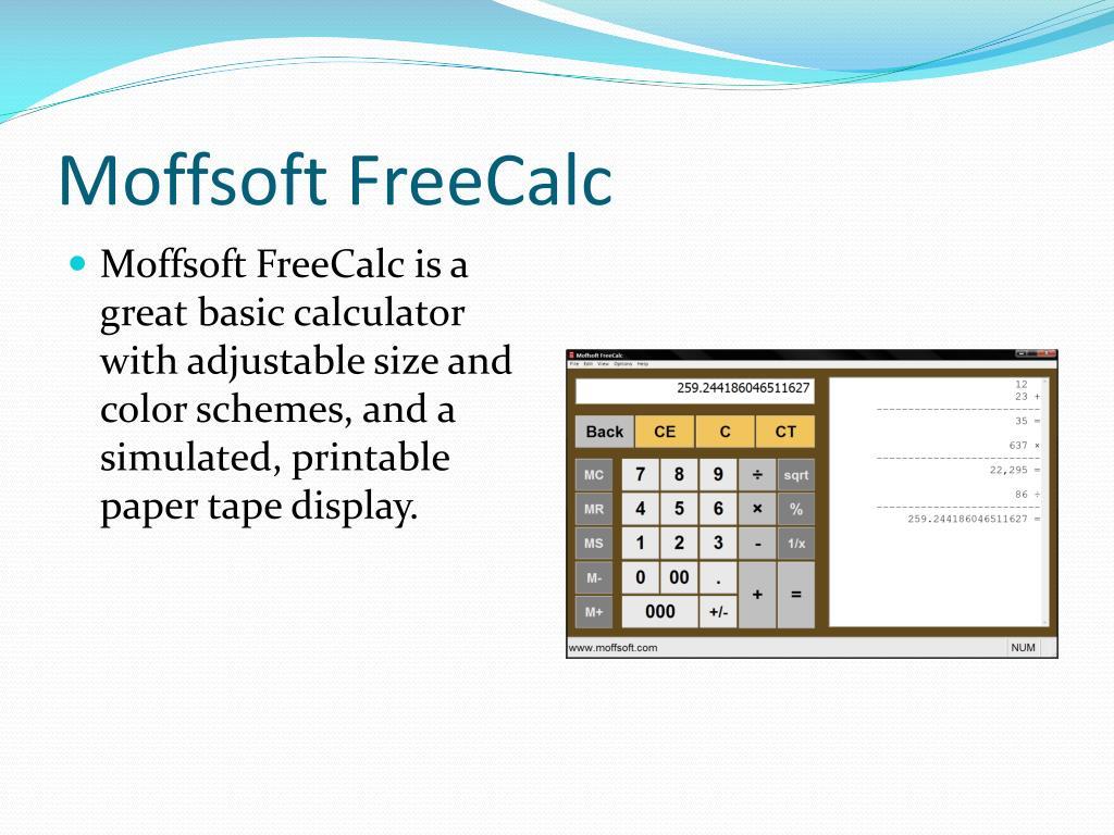 Moffsoft FreeCalc