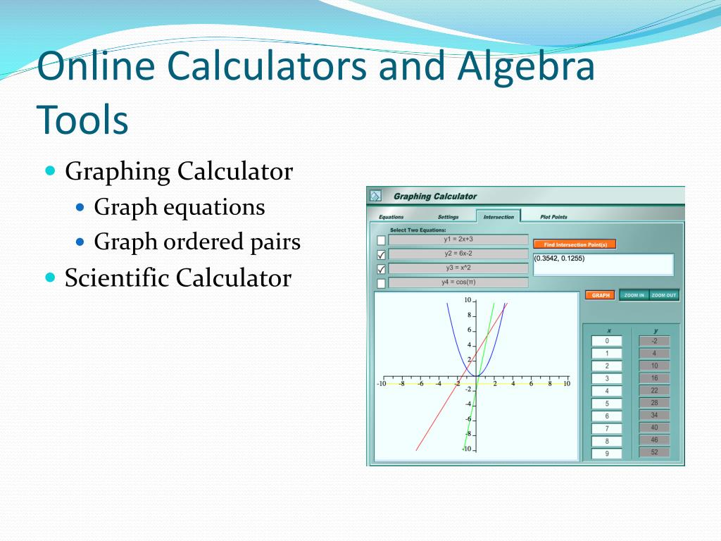 Online Calculators and Algebra Tools