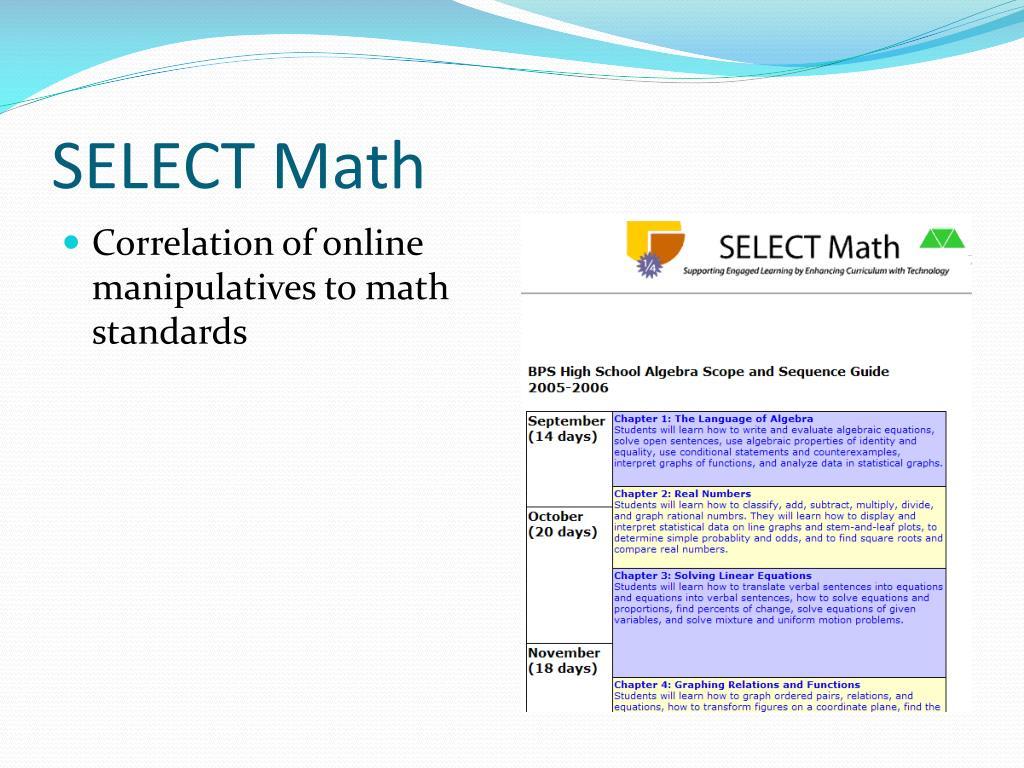 SELECT Math