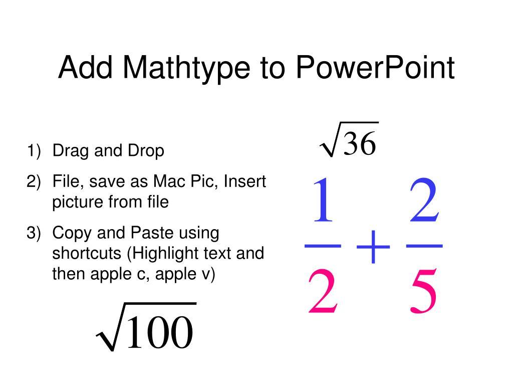 Add Mathtype to PowerPoint