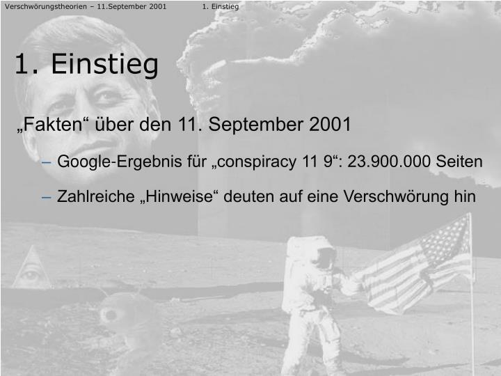 Verschwörungstheorien – 11.September 20011. Einstieg