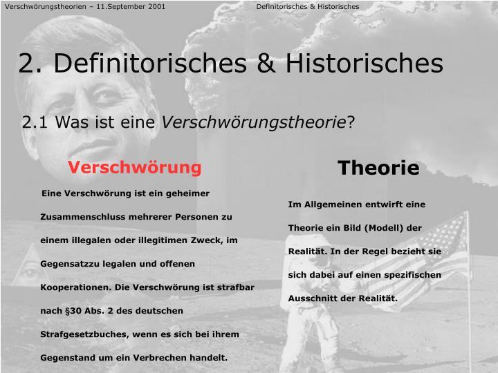 Verschwörungstheorien – 11.September 2001 Definitorisches & Historisches