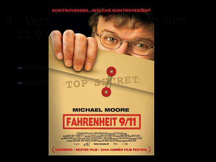 Verschwörungstheorien – 11.September 20014. Verschwörungstheorien zum 11.9 & Film – 2 Beispiele