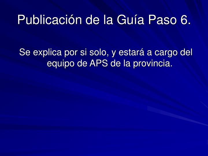Publicación de la Guía Paso 6.