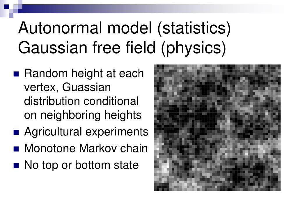 Autonormal model (statistics)