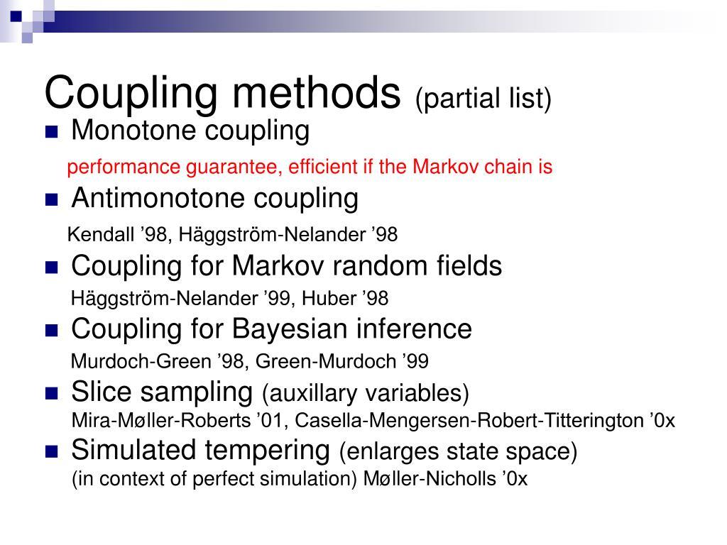 Coupling methods