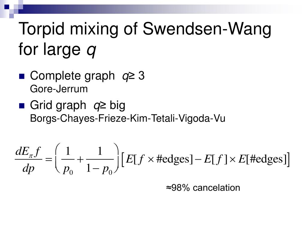 Torpid mixing of Swendsen-Wang for large