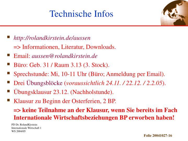Technische Infos