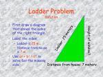 ladder problem solution